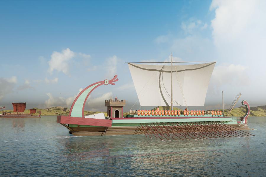 Roman shipbuilding and navigation